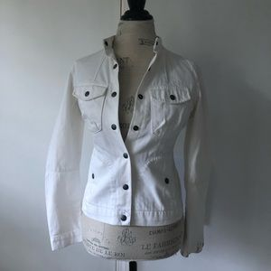 White Denim Lucky Brand Button Up Jacket